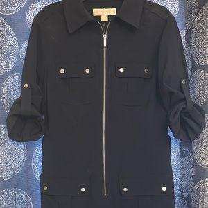 Michael Kors Navy Blue Shirt Dress NEW! Size XS
